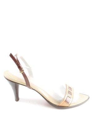 Sgn. High Heel Sandaletten creme-braun Casual-Look