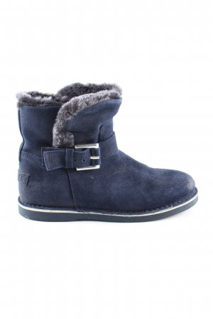 Shabbies amsterdam Fellstiefel blau Casual-Look