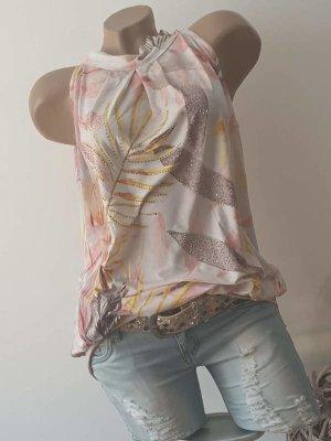 Shabby Style! Tunika/Top - Größe M 38/40 - Creme/Zarte Töne