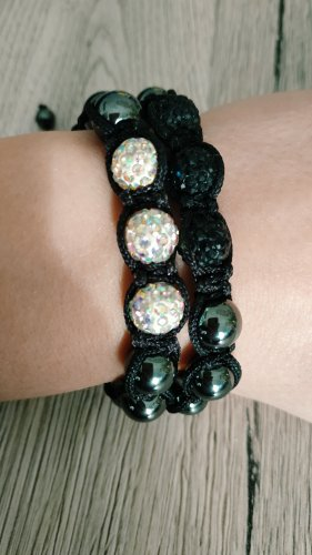 Promod Friendship Bracelet white-black glas