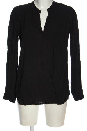 Shana Camicetta a maniche lunghe nero stile casual