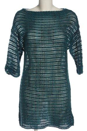 Shana Maglione lungo blu-verde puntinato stile casual
