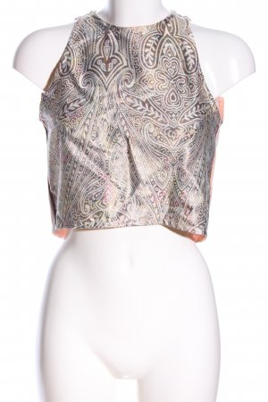 Shana Backless Top graphic pattern elegant