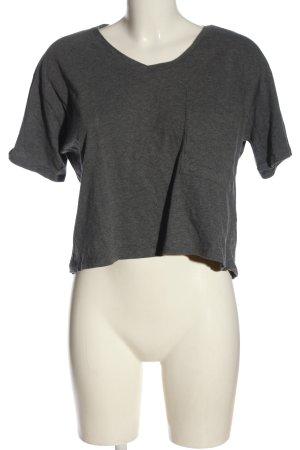 Shana Camicia maglia grigio chiaro puntinato stile casual