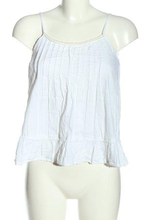 Shana Canotta a bretelle bianco-crema stile casual