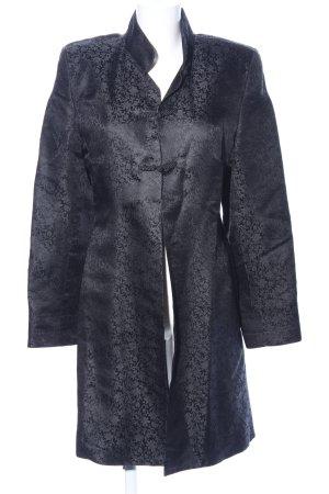 Shanghai Tang Gehrock schwarz abstraktes Muster Elegant
