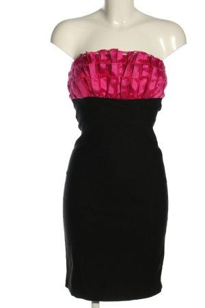 Shasa Vestido strapless rosa-negro elegante