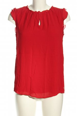 She ärmellose Bluse rot Business-Look
