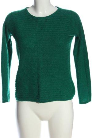She Cashmerepullover grün Streifenmuster Casual-Look
