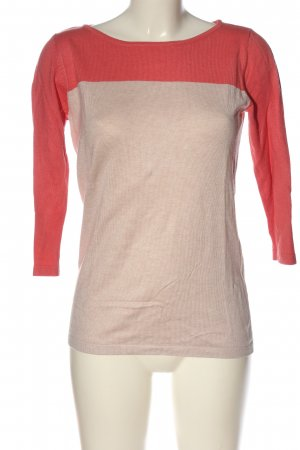 She Feinstrickpullover creme-rot meliert Casual-Look