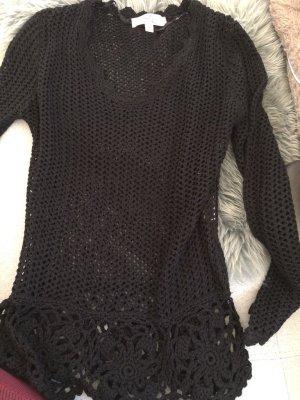 Jersey de ganchillo negro