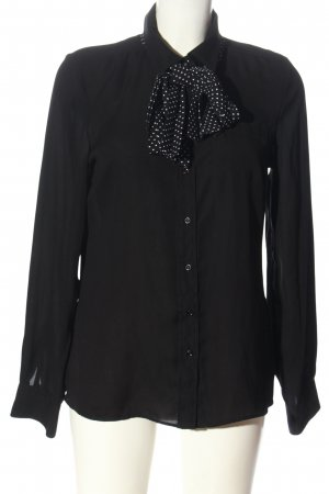 She Hemd-Bluse schwarz-weiß Punktemuster Business-Look