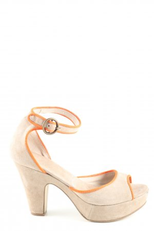 She High Heels creme-hellorange Casual-Look