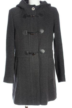 She Manteau à capuche gris clair moucheté style décontracté
