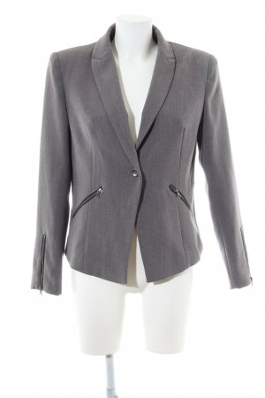 She Kurz-Blazer hellgrau meliert Business-Look