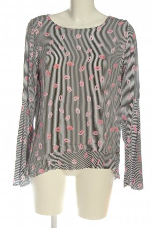 She Langarm-Bluse abstraktes Muster Casual-Look