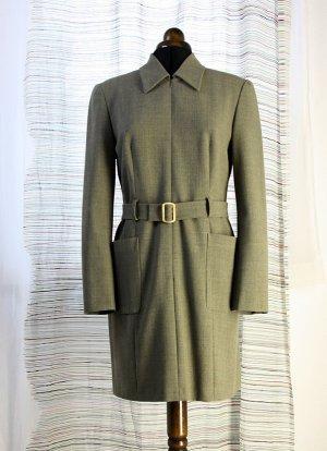 She Geklede jurk grijs-bruin Gemengd weefsel