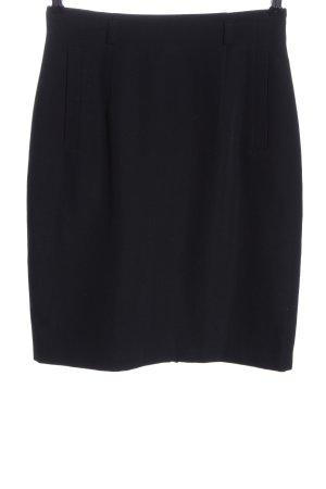 She Wollen rok zwart zakelijke stijl