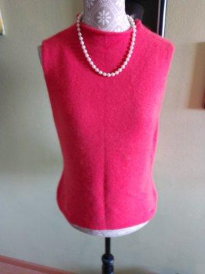 Pull à manches courtes rouge-rouge clair laine angora