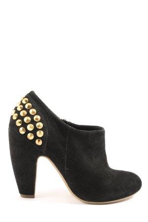 She Reißverschluss-Stiefeletten schwarz-goldfarben Casual-Look