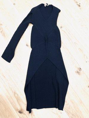 She's So - 100% Merino Wolle - asymmetrischer Long Shirt /Strickpullover Gr.36-38/ S-M