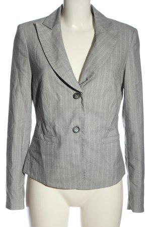 She Blazer in maglia grigio chiaro-bianco modello web stile professionale