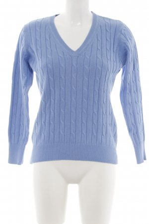She Strickpullover blau Zopfmuster Casual-Look