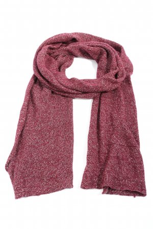 She Knitted Scarf red-white flecked casual look