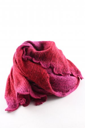 She Knitted Scarf pink-red color gradient casual look
