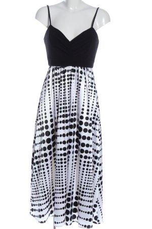 She Trägerkleid schwarz-weiß Punktemuster Elegant