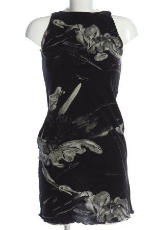 She Bleistiftkleid schwarz-hellgrau abstraktes Muster klassischer Stil