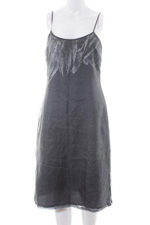 She Trägerkleid grüngrau-hellgrau abstraktes Muster Elegant