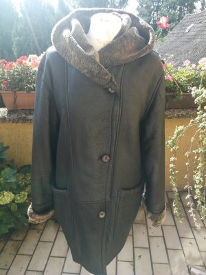 Fur Jacket black-green grey