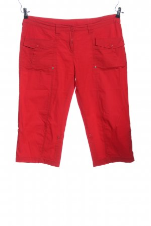 Sheego 3/4-Hose rot Casual-Look