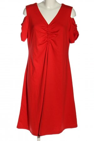 Sheego A-Linien Kleid rot klassischer Stil