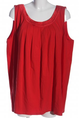 Sheego ärmellose Bluse rot Casual-Look