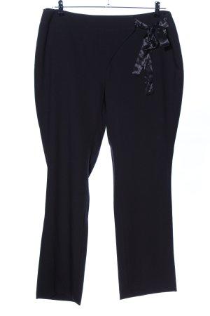Sheego Pantalon de costume noir style d'affaires