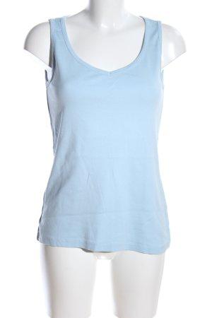 Sheego Basic Top blau Casual-Look