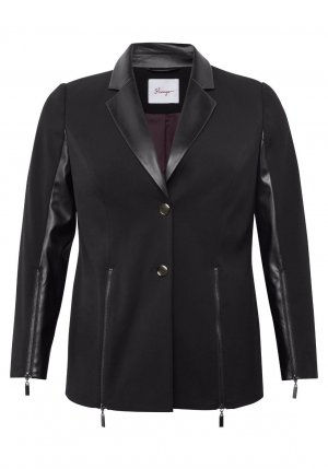 Sheego Blazer in pelle nero