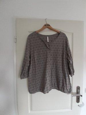 Sheego Shirt Tunic grey brown