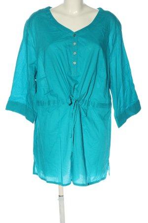 Sheego Blusenkleid blau Casual-Look