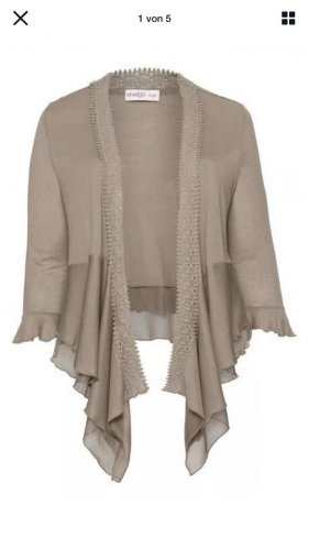 Sheego Fleece trui beige