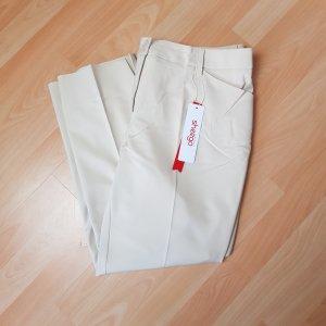 Sheego Pantalon de costume beige clair coton
