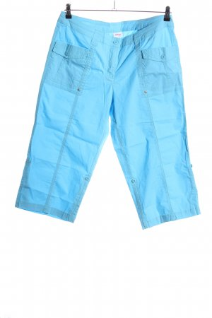 Sheego Pantalon capri turquoise style décontracté