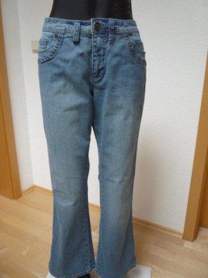 Sheego Damen Bootcut  Jeans MAILA Gr. 22, Light Blue Denim
