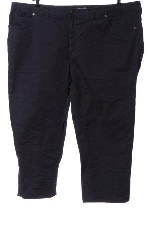 Sheego Spodnie z pięcioma kieszeniami czarny W stylu casual