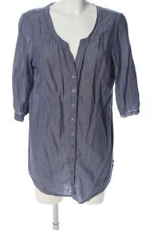 Sheego Hemd-Bluse blau Casual-Look