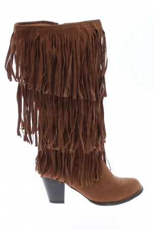 Sheego Wysokie buty na obcasie brązowy W stylu casual