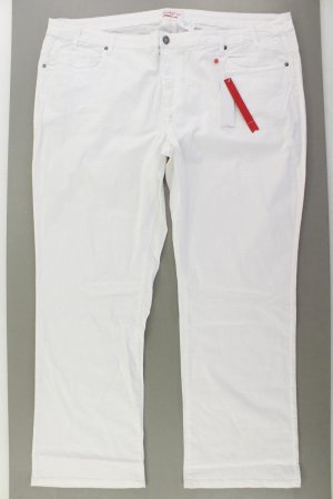 Sheego Trousers natural white cotton