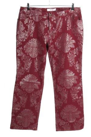 Sheego Pantalone elasticizzato rosso scuro-bordeaux